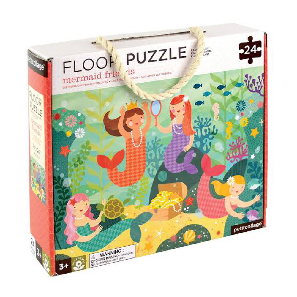 Petit Collage Floor Puzzle - Mermaids