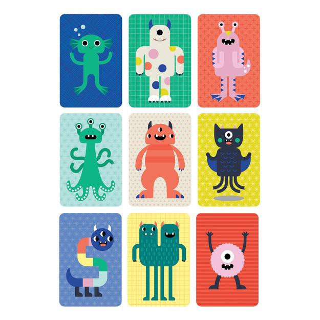 Petit Collage Card Game - Too Many Monsters