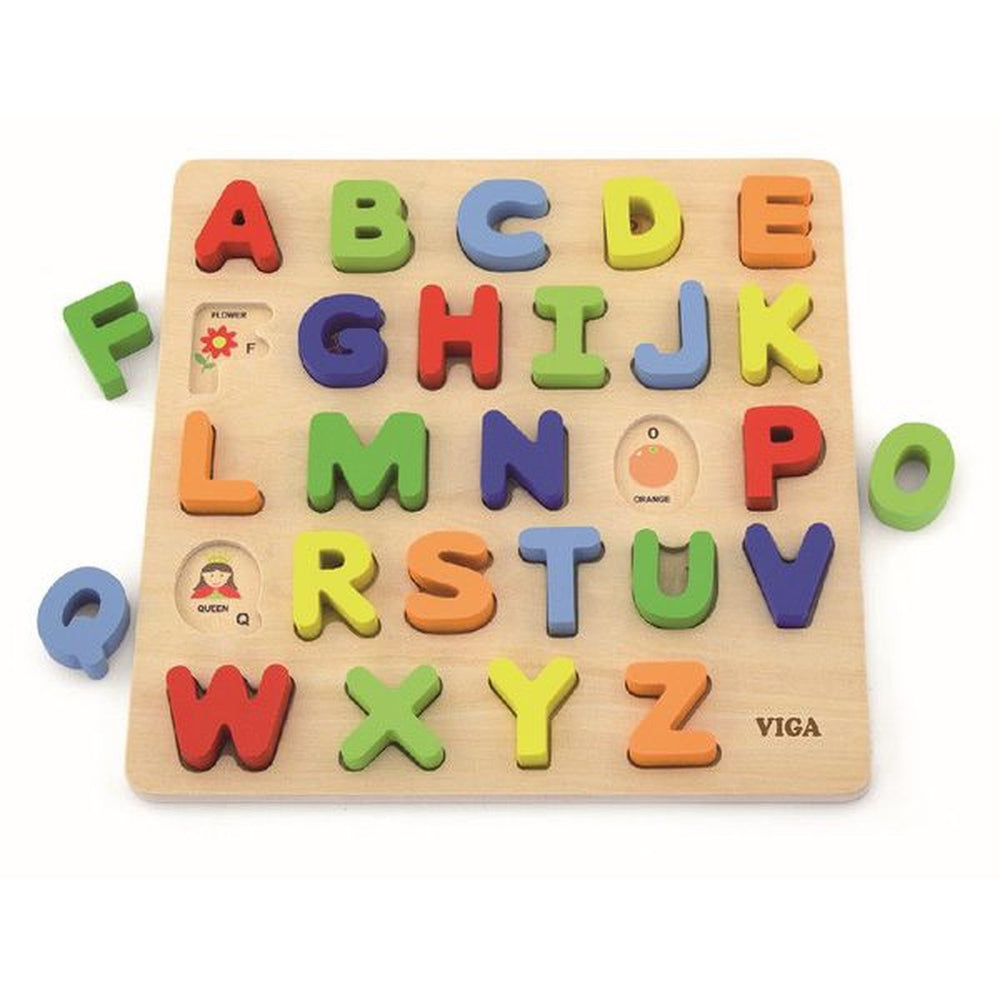 Uppercase Alphabet Block Puzzle | Wooden