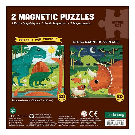 Mighty Dinosaurs Magnetic Puzzle | 20