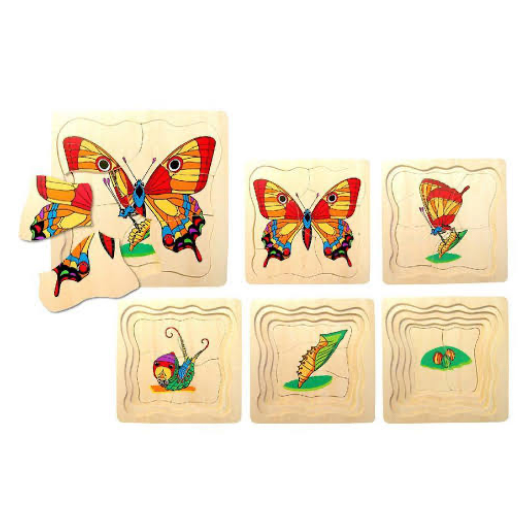 Butterfly Life Cycle Layer Puzzle | Wooden