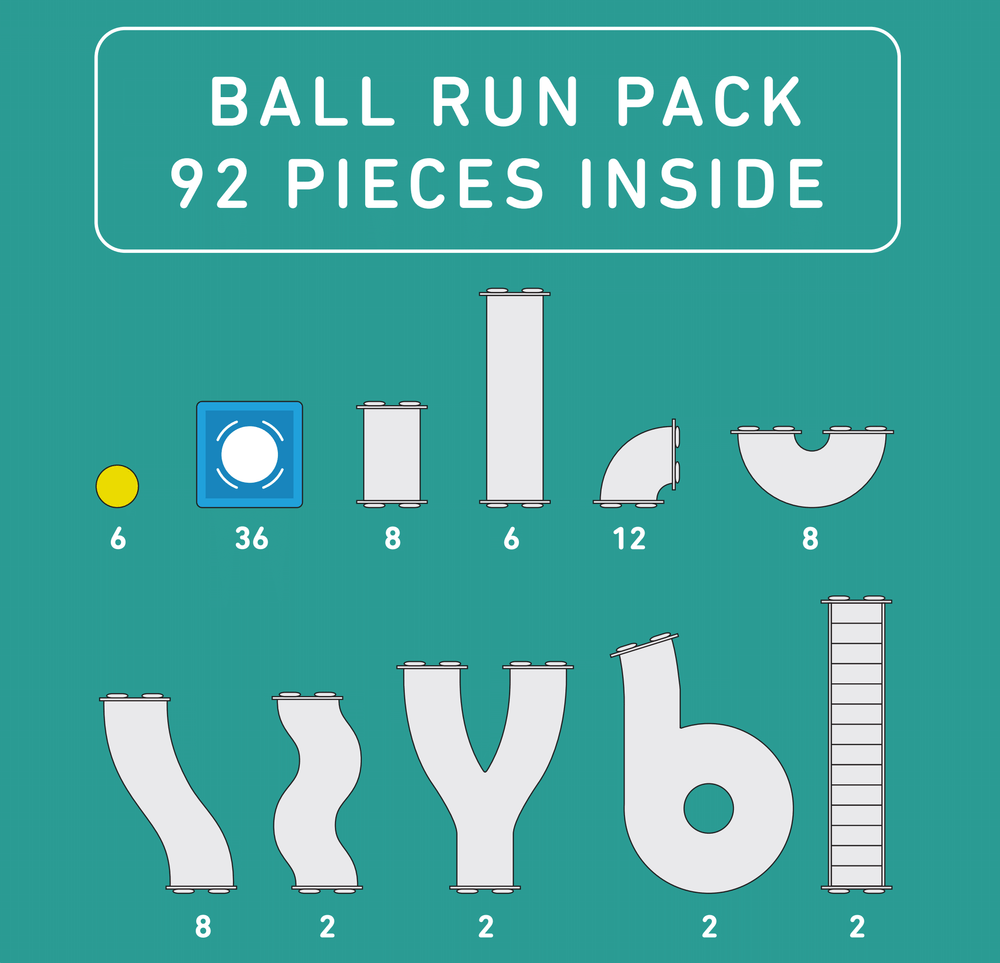 **PREORDER** Connetix Tiles - Ball Run (January Delivery)
