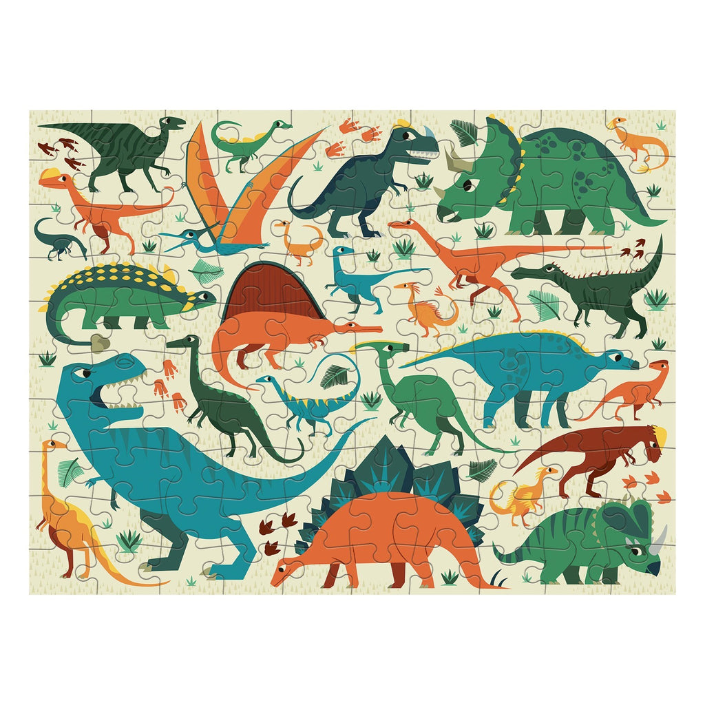 Dinosaur Dig 100pc Double Sided Puzzle