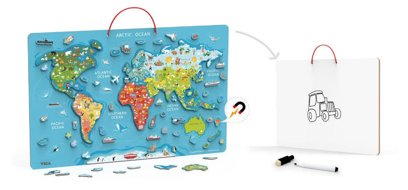 Jumbo Magnetic World Map Puzzle