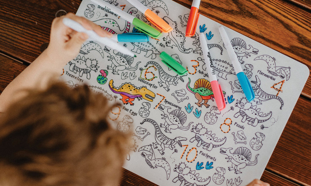 HeyDoodle Reusable Playmat - DinoRoar