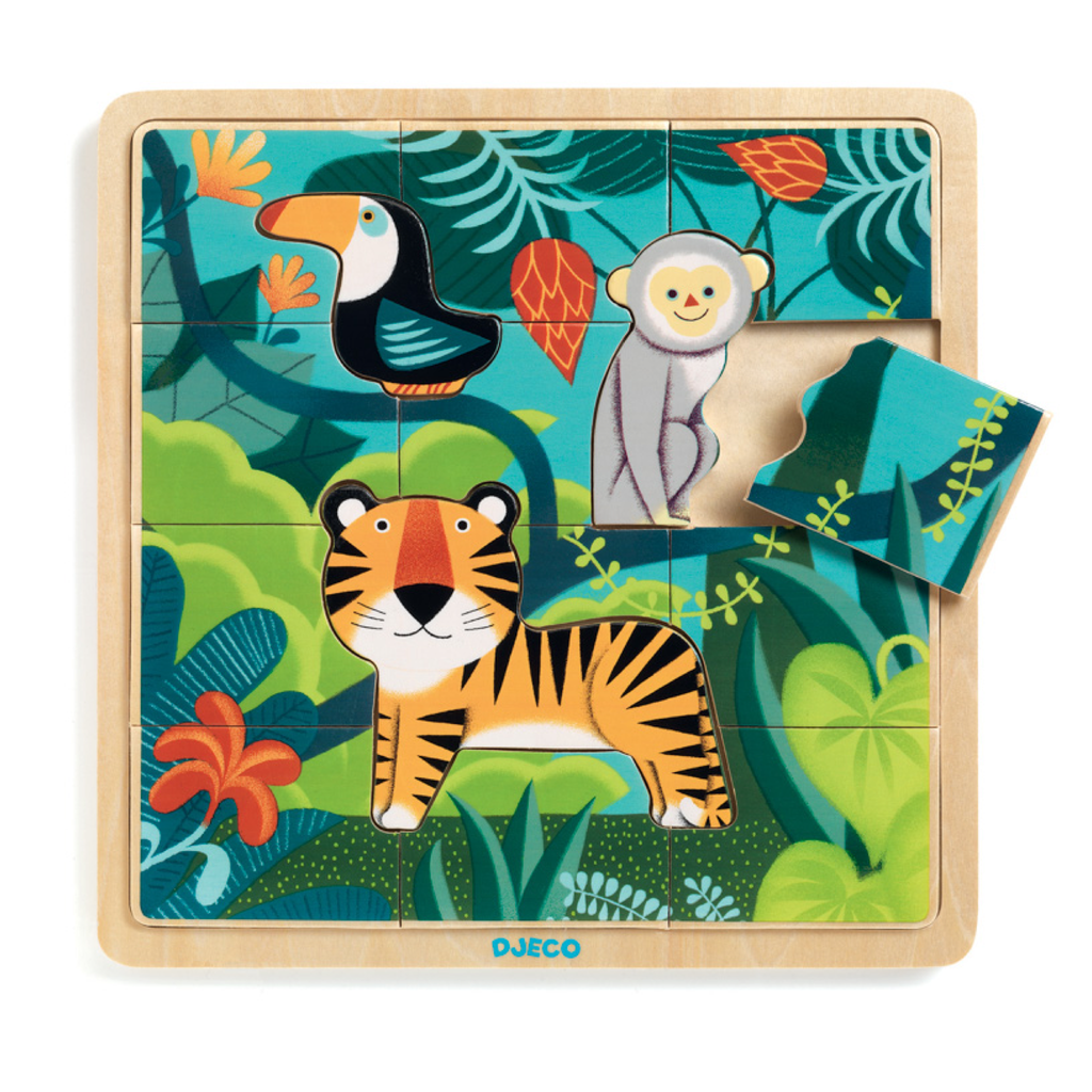 Djeco Jungle Puzzle | Wooden