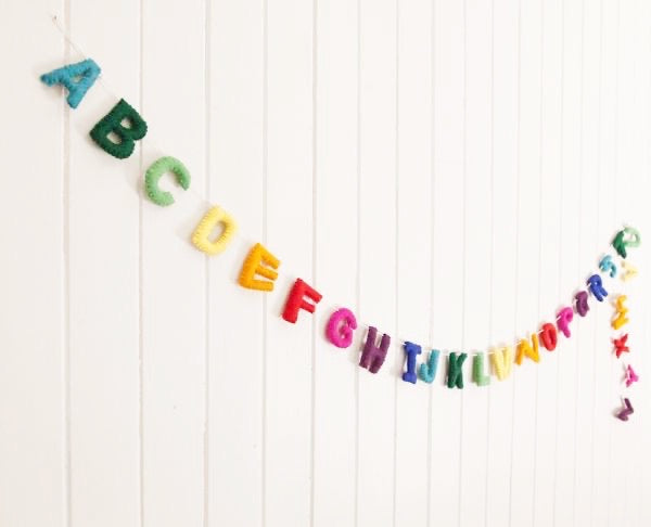 Rainbow Alphabet Garland | Decor