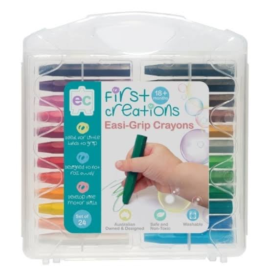 Easy-Grip Crayons - 24 Pack