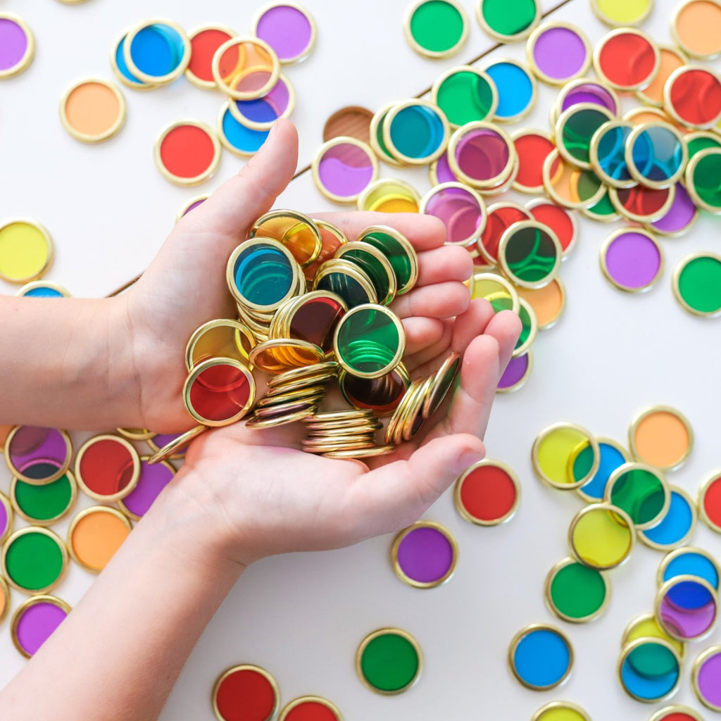 Magnetic Rimmed Counting Chips | 100 | Learn & Grow