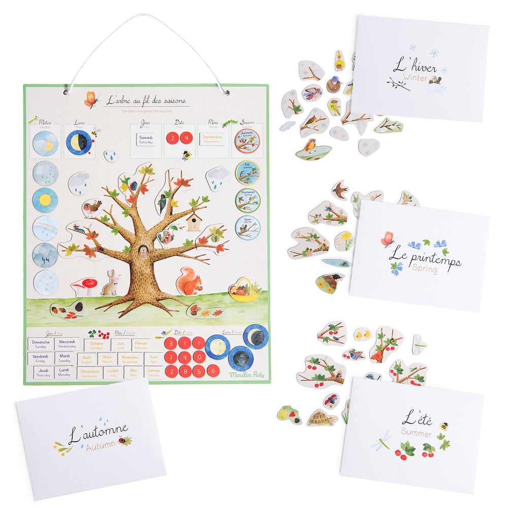 Le Jardin Magnetic Seasons Calendar | Moulin Roty