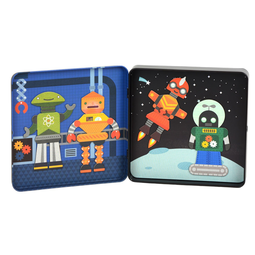 Petit Collage Magnetic Robot Tin