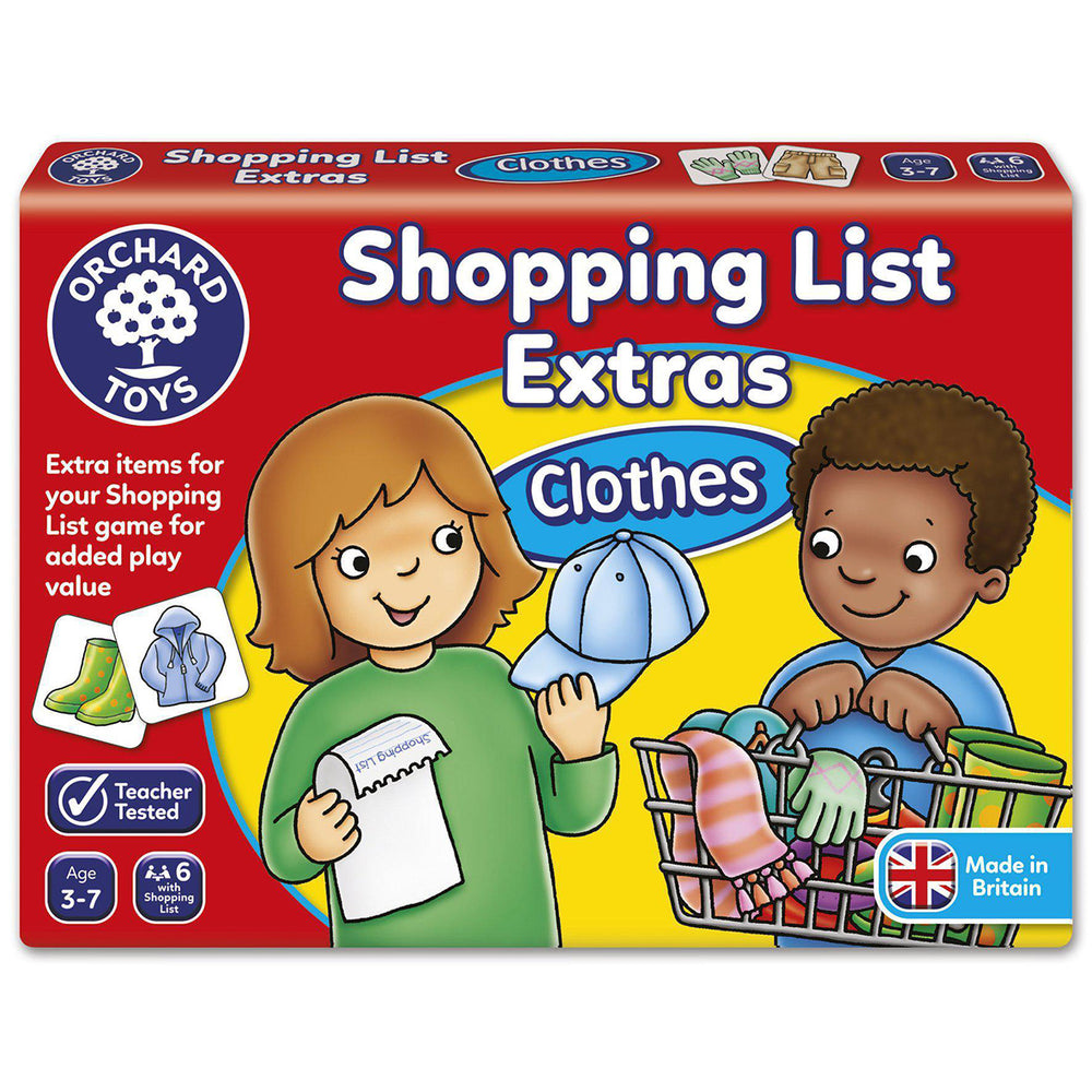 Shopping List Extras Clothes | Orchard Toys