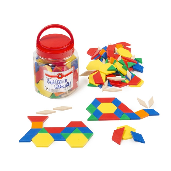 Pattern Blocks Jar of 126