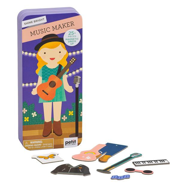 Petit Collage Shine Bright: Music Maker Magnetic Dress Up