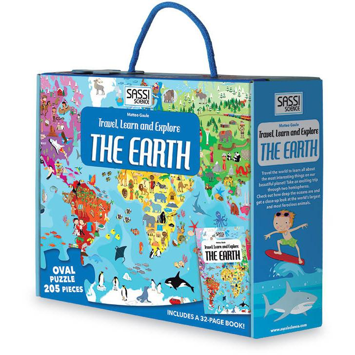 The Earth - Oval Puzzle, 205pc