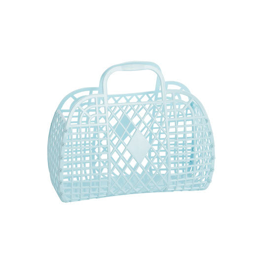 Retro Basket Small | Blue | Sun Jellies
