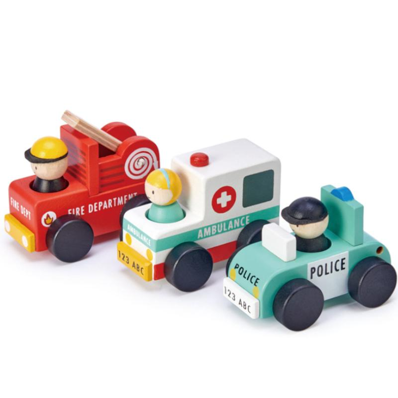ABC Emergency Cars - Tender Leaf Toys