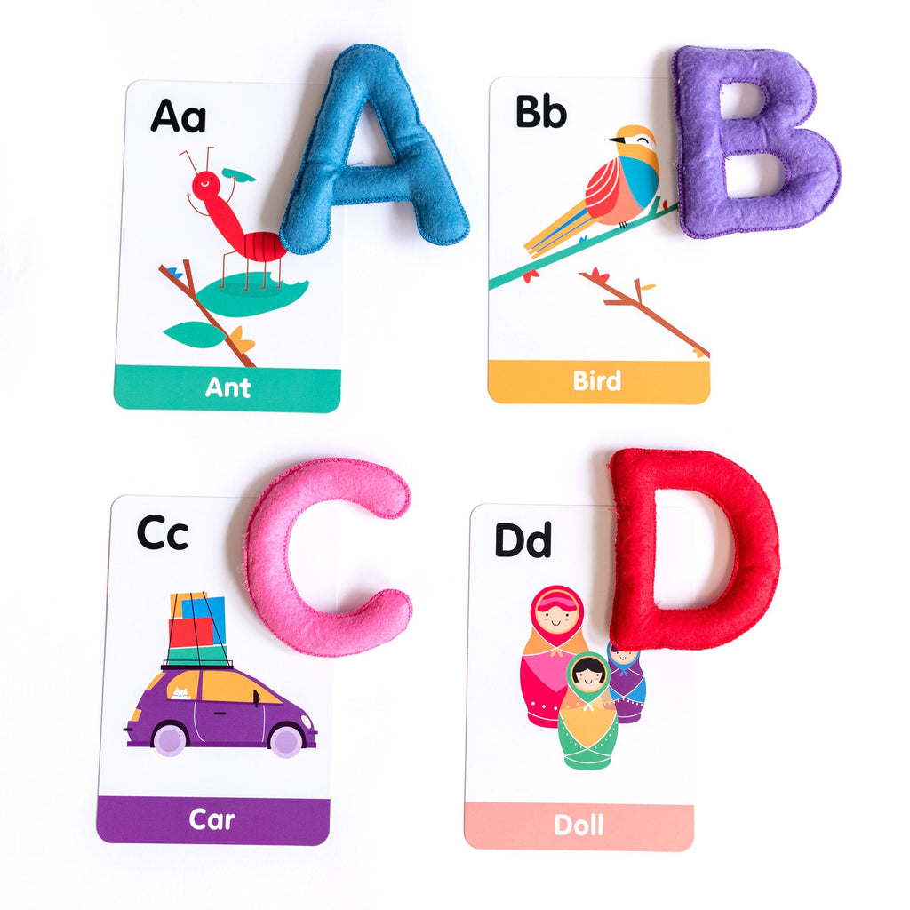ABC Felt Alphabet and Flashcard Set | Curious Colombus