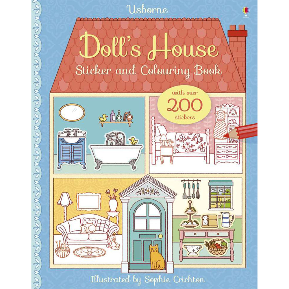 Usborne Dolls House Sticker and Colouring Book