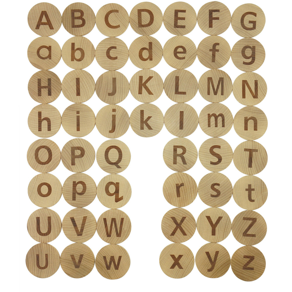 Wooden Tactile Alphabet Matching Pairs