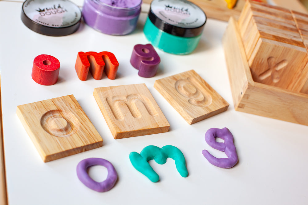 Wooden Tracing Alphabet Tiles