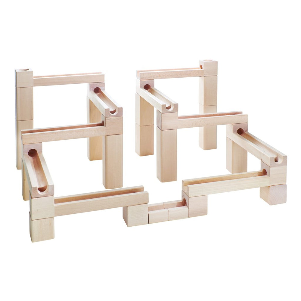 Kubi Dubi Wooden Marble Run - Slides