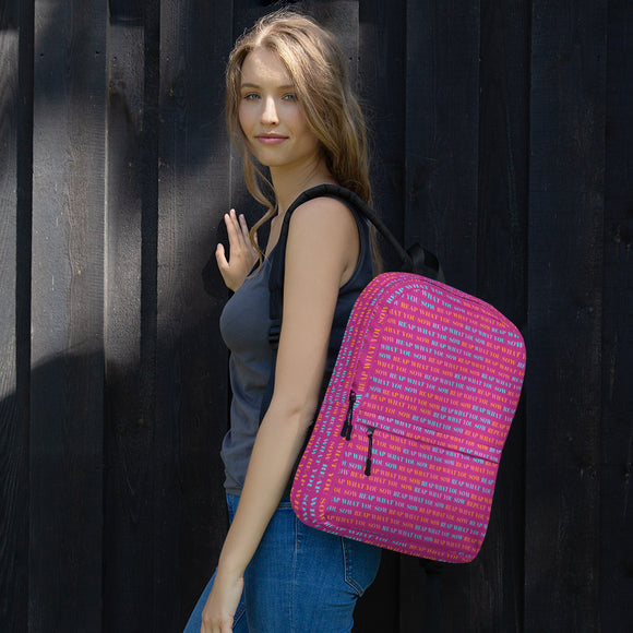 REAP WHAT YOU SOW Backpack (hot pink, blue and orange)