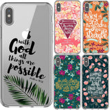 Bible verse Phone Case For iPhone X XS MAX XR 7 8 6 6sPlus 5 5S SE
