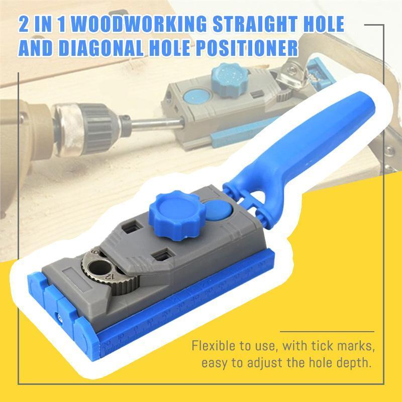 2 In 1 Woodworking Straight Hole And Diagonal Hole Positioner