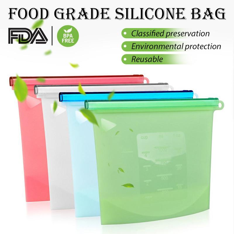 (75% OFF) Reusable Food Grade Silicone Bag