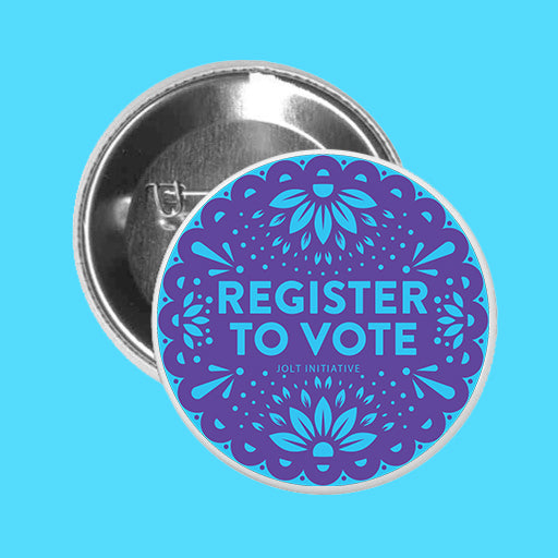 Register to Vote Papel Picado Pin