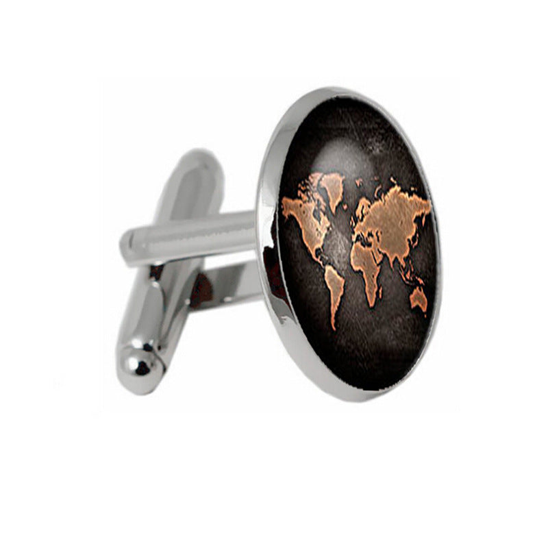 Columbus world map cufflinks