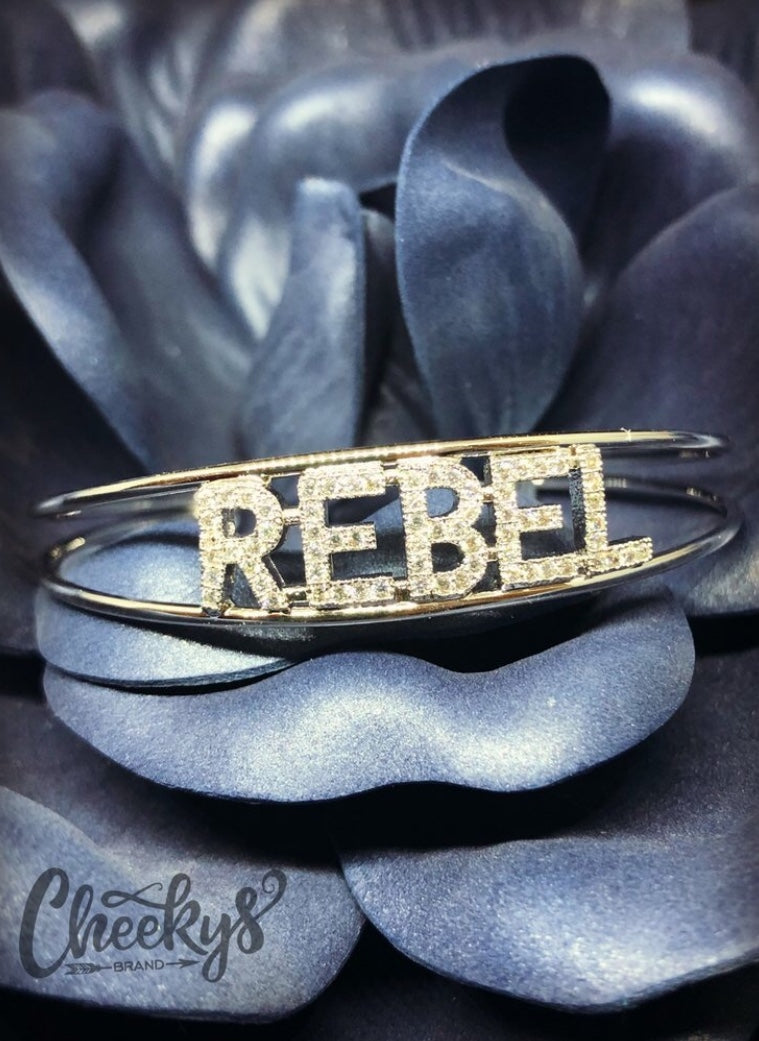 Rebel Bling Cuff Bracelet