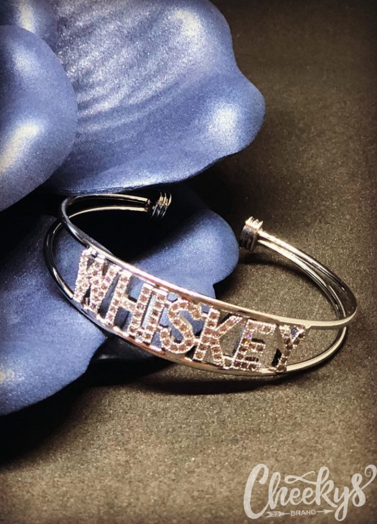 Whiskey Bling Cuff Bracelet