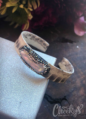 Jeweled Python Bangle Bracelet