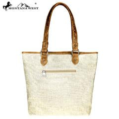 Montana West Cinco Collection Canvas Tote Bag