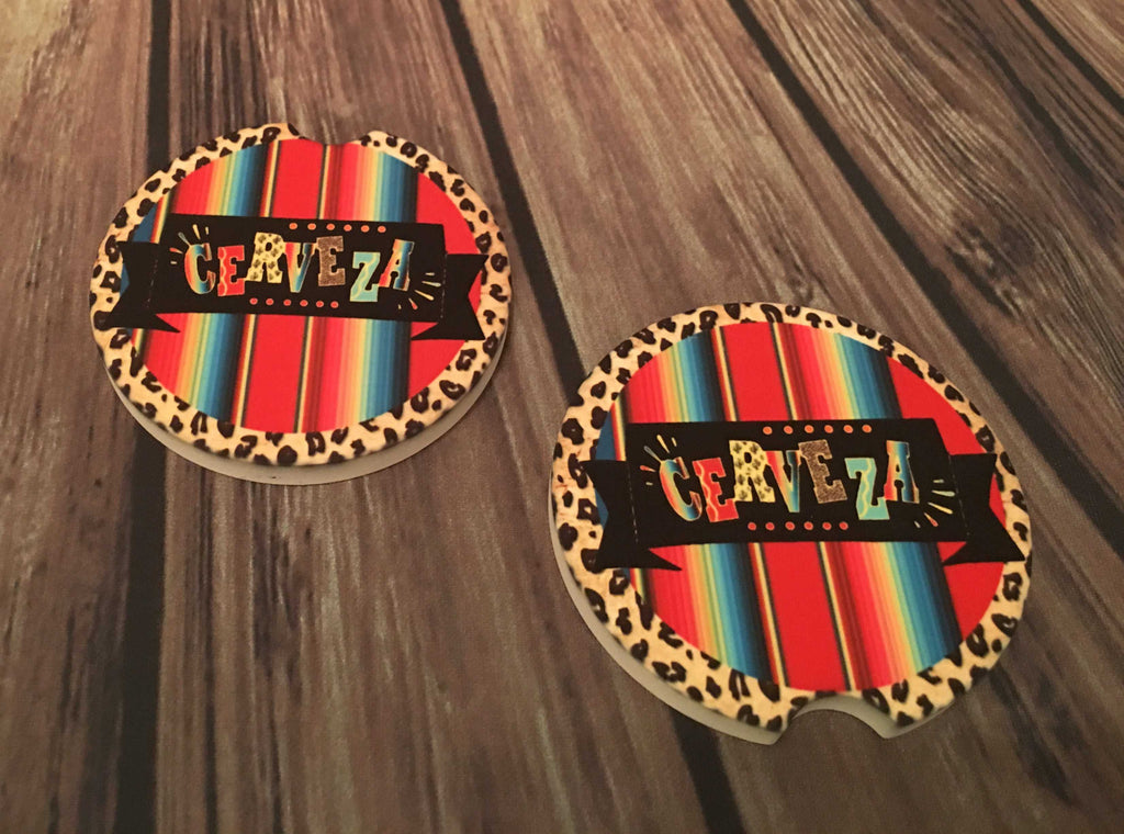 Cerveza Car Coasters from Outlaws and Angels Boutique