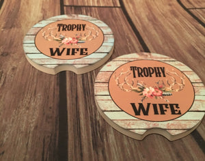 Trophy Wife Car Coasters