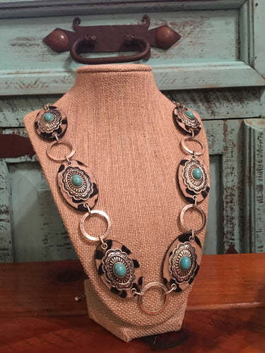 Concho Leopard Necklace