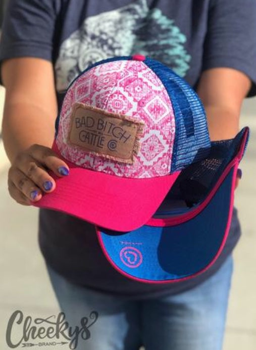 BB Cattle Co. Pink Aztec Cap