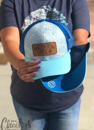 BB Cattle Co. Blue Paisley Cap