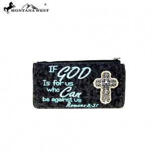 Montana West Scripture Bible Verse Collection Wallet - Turquoise Color