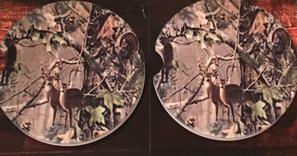 Camo Deer Car Coasters