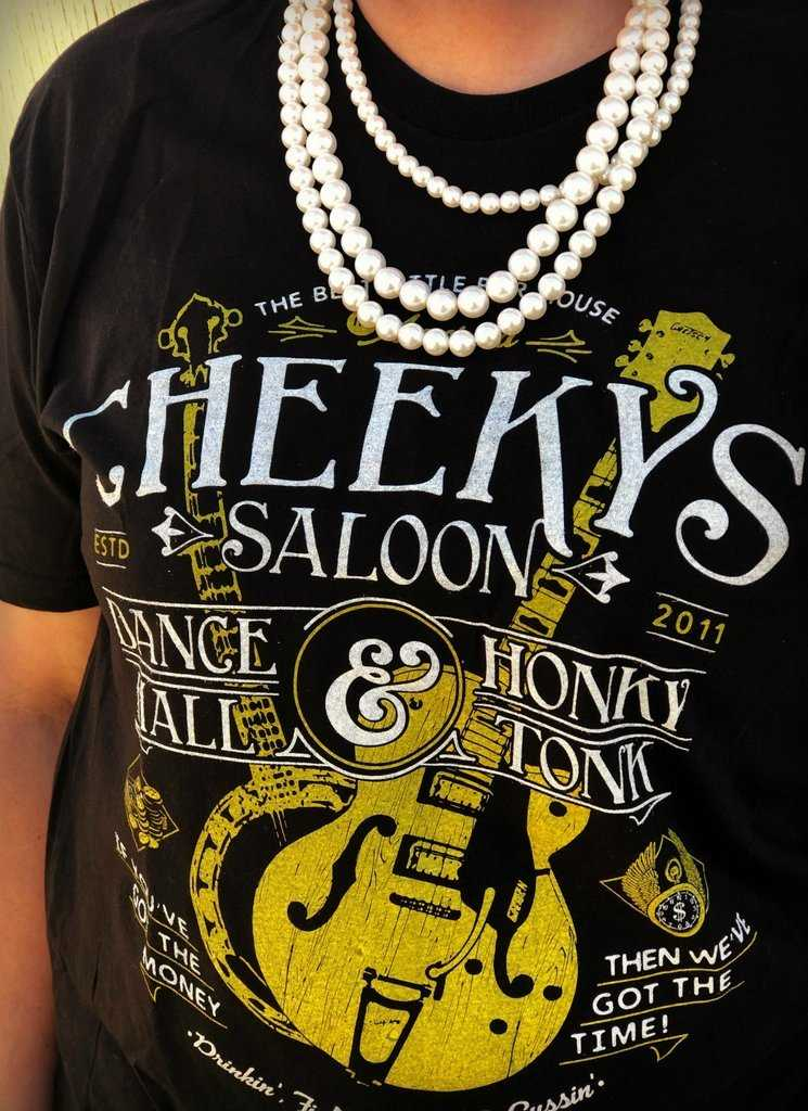 Cheeky's Saloon Tee from Outlaws and Angels Boutique