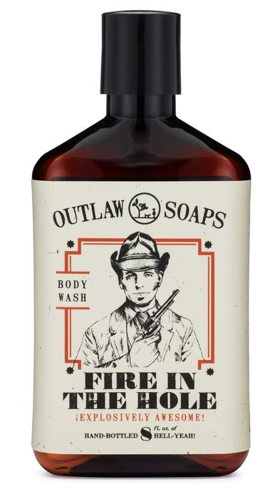 Fire in the Hole Natural Body Wash - 8oz - (smell like campfire)