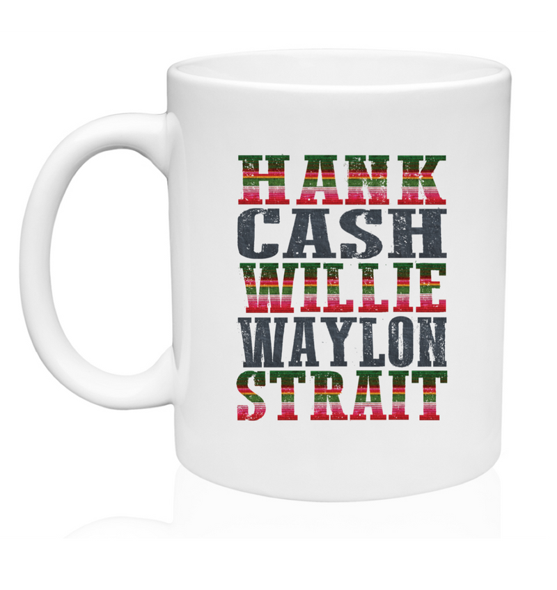 Hank, Cash & Willie Mug