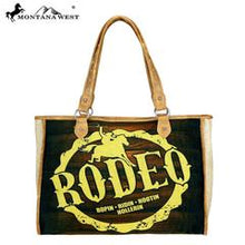 Load image into Gallery viewer, Montana West Rodeo Painting Canvas Tote Bag