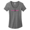 Women's Grey Scoop Neck Shirt