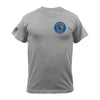 VL BLUE LINE MEDALLION HEART PRINT T-SHIRT