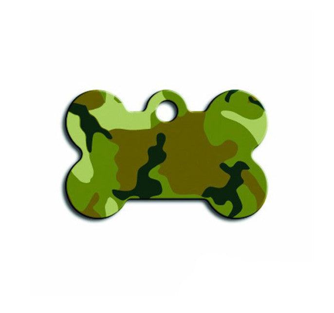 Pet ID Tag - Small Bone - Camo